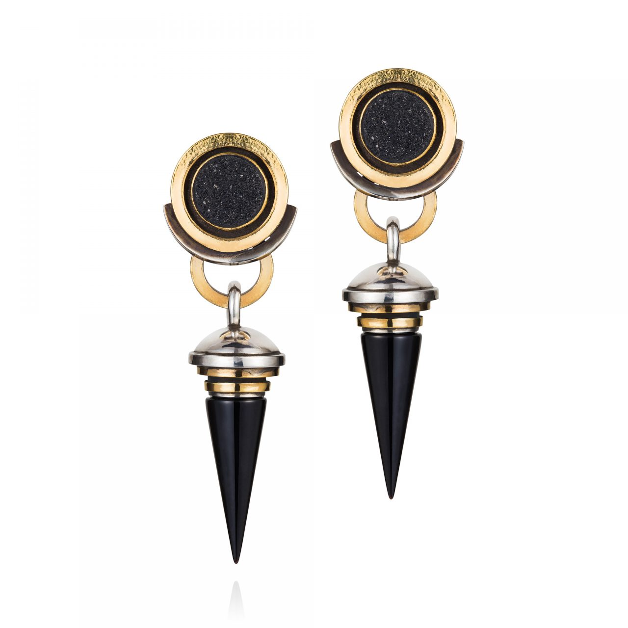 Druzies and Onyx Earrings