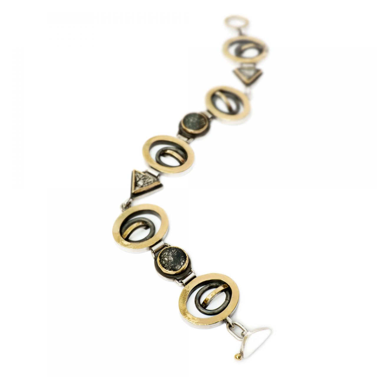 Bracelet with Tourmalinated Quartz