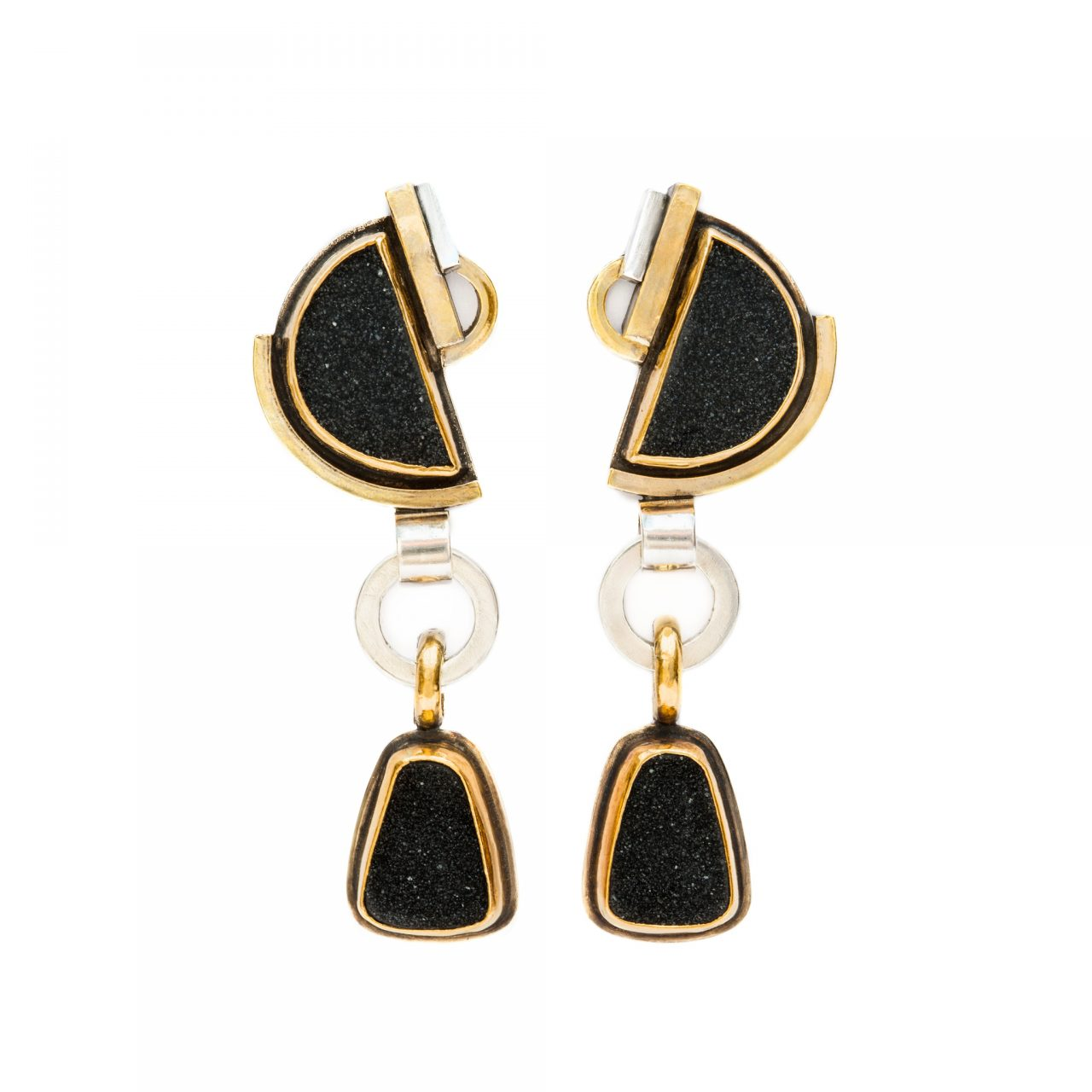 Earrings with Druzies