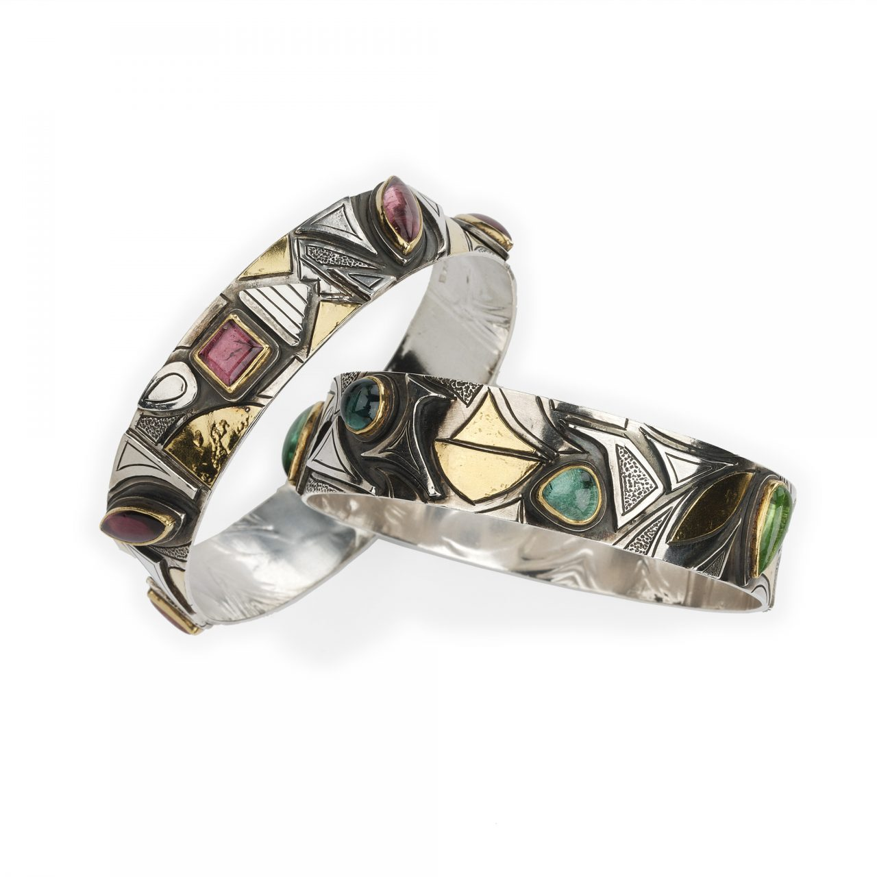Bracelets with Tourmalines